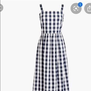 J. Crew Factory Gingham Tiered Maxi dress
